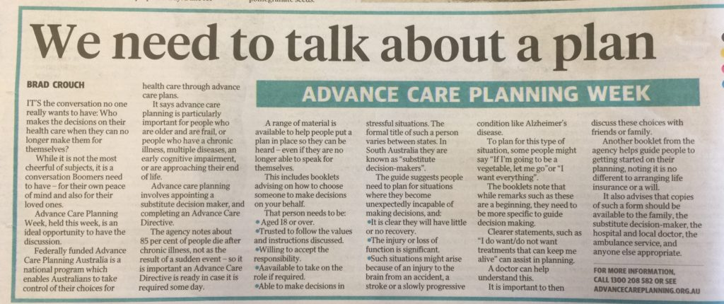 Advance Care Planning Week